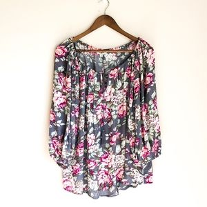 Umgee Pink & Gray BOHO Top